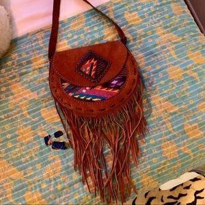 Handbags - Aztec Fringe Purse